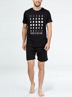 Pijamas cortos - Pijama corto de algodón