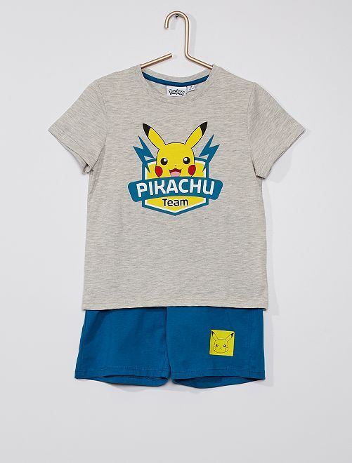 Pijama corto de algodón 'Pikachu' 'Pokemon'                             VERDE