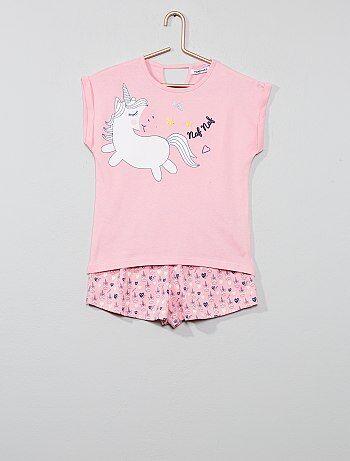 813530be0b Pijama corto de algodón puro - Kiabi