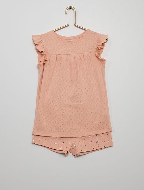 Pijama corto de algodón                                         ROSA