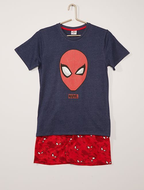 Pijama corto de algodón 'Spider-Man' 'Marvel'                             AZUL