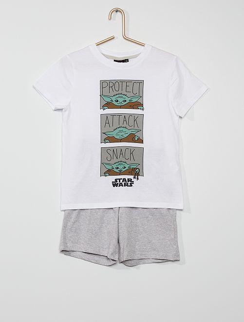Pijama corto de algodón 'Star Wars'                                         GRIS