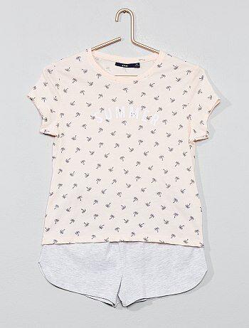 aceeba2a44 Pijama corto de punto - Kiabi