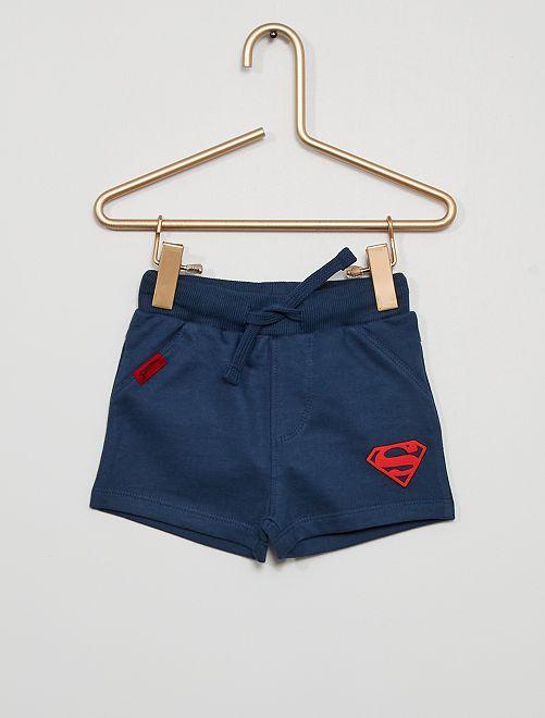 Pijama corto de 'Superman' eco-concepción                                         AZUL