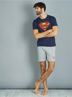 Pijamas, batas - Pijama corto de 'Superman' - Kiabi