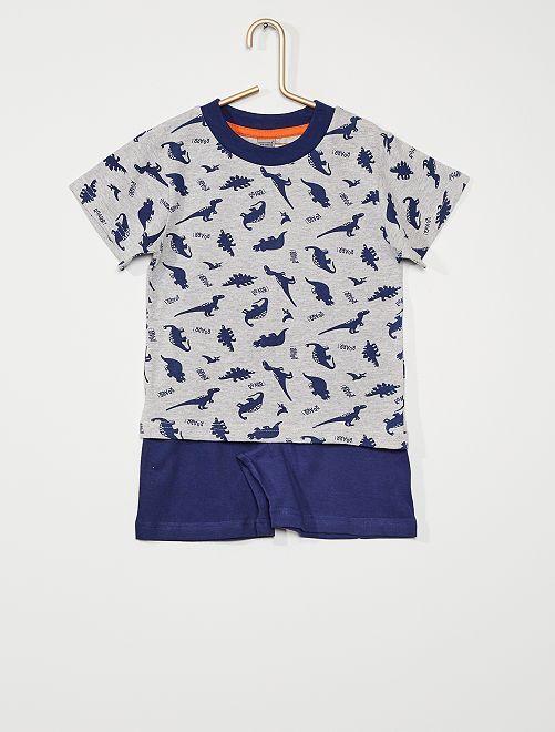 Pijama corto 'dinosaurio'                                         gris