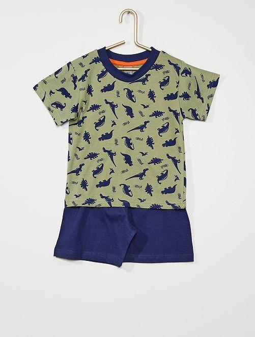 Pijama corto 'dinosaurio'                                         verde