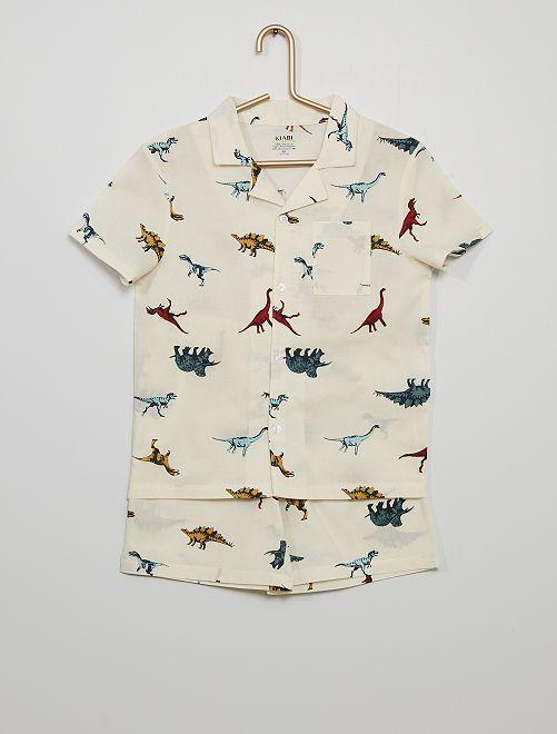 Pijama corto 'dinosaurios'                                         BLANCO