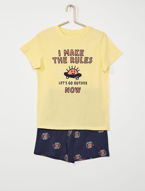 Pijama corto eco-concepción                                                                             AMARILLO