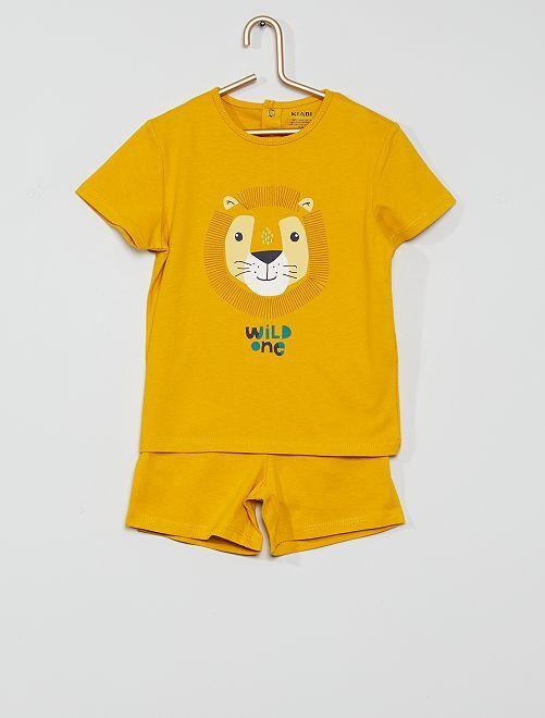 Pijama corto eco-concepción                                                                 león
