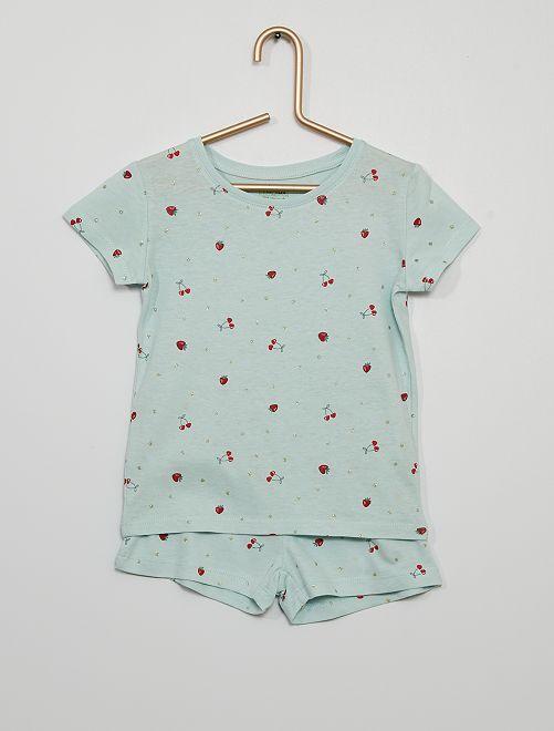 Pijama corto eco-concepción                                                                 ROJO