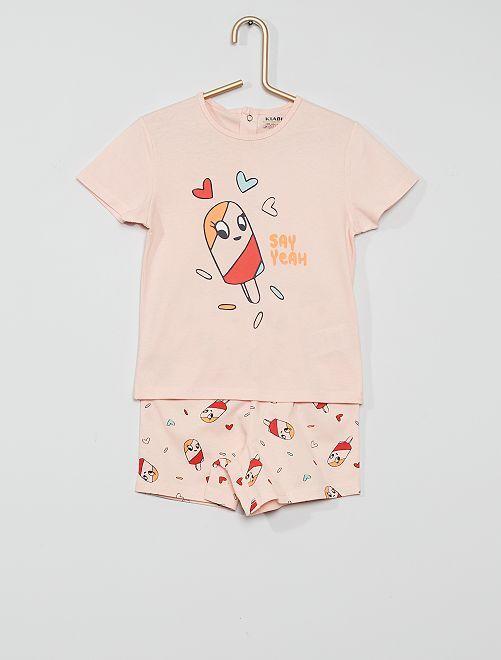 Pijama corto eco-concepción                                                                 ROSA