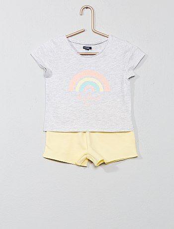 e24ebd503d Pijama corto estampado  arcoíris  - Kiabi