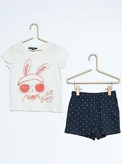 Niña 3-12 años Pijama corto estampado