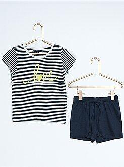 Pijamas - Pijama corto estampado