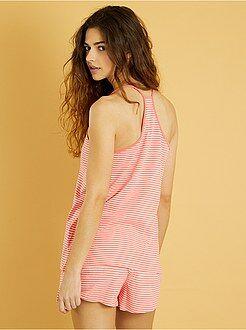 Pijama corto estampado - Kiabi