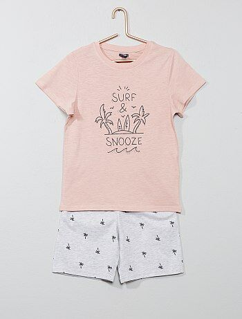 1979cf815 Pijama corto estampado 'playa' - Kiabi