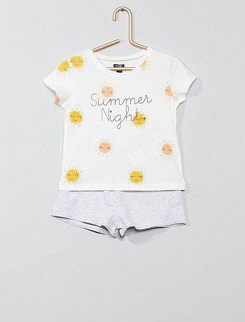 3ed469468 Pijama corto estampado  sol  - Kiabi