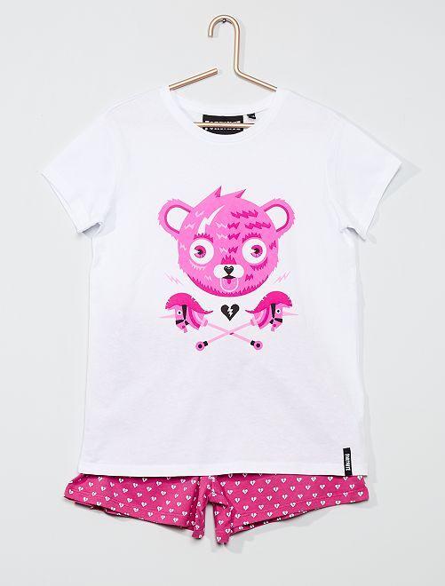 Pijama corto 'Fortnite'                             rosa