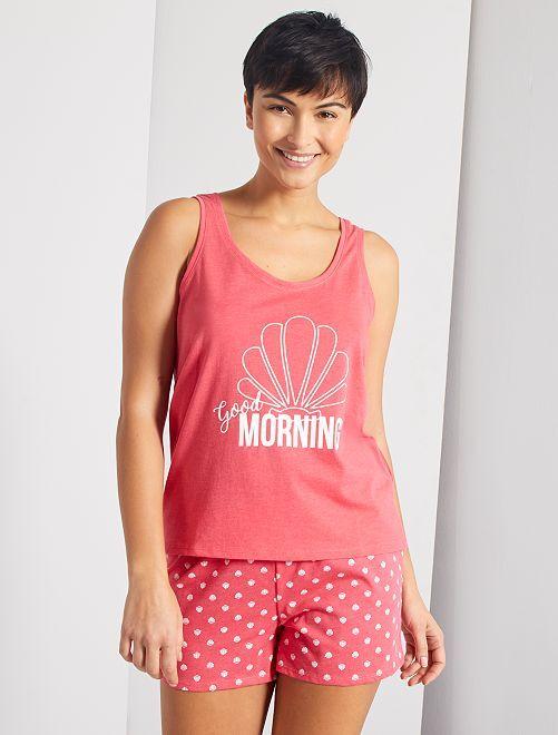 Pijama corto 'Good Morning'                                                                 ROSA