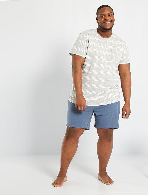 Pijama corto                             GRIS
