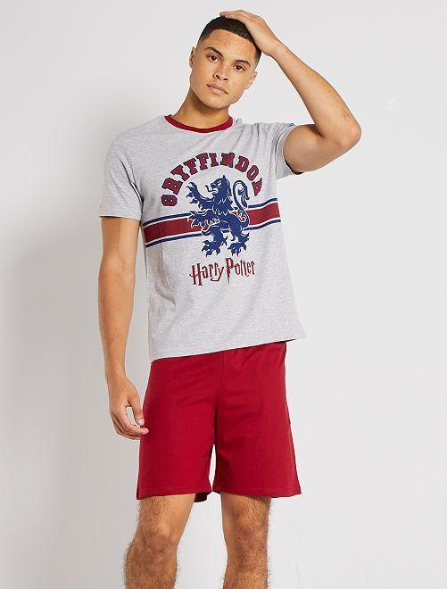 Pijama corto 'Harry Potter'                             GRIS