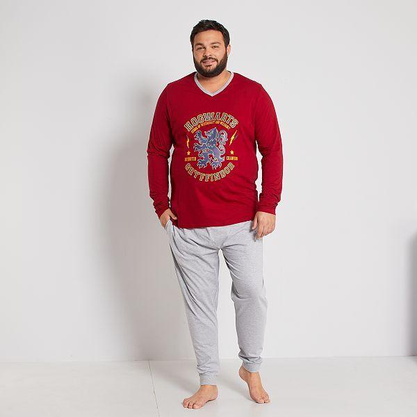 Pijama Corto Harry Potter Tallas Grandes Hombre Rojo Kiabi 25 00