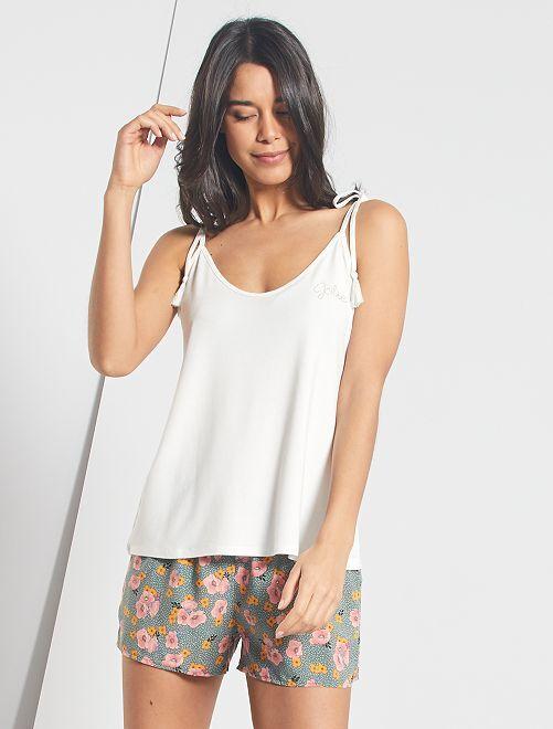 Pijama corto                             KAKI