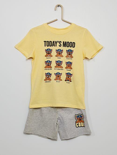 Pijama corto 'La Patrulla Canina'                             amarillo suave
