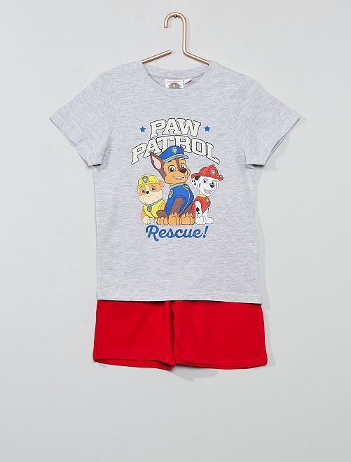 Pijama corto 'La patrulla canina'                             rojo/gris Chico