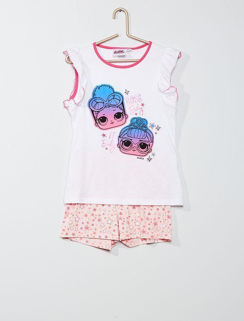 Pijama corto 'L.O.L Surprise !'                                         blanco