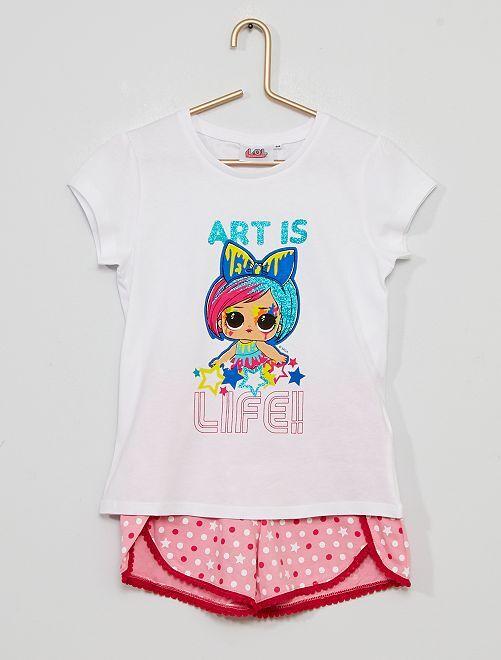 Pijama corto 'L.O.L. Surprise'                                         blanco