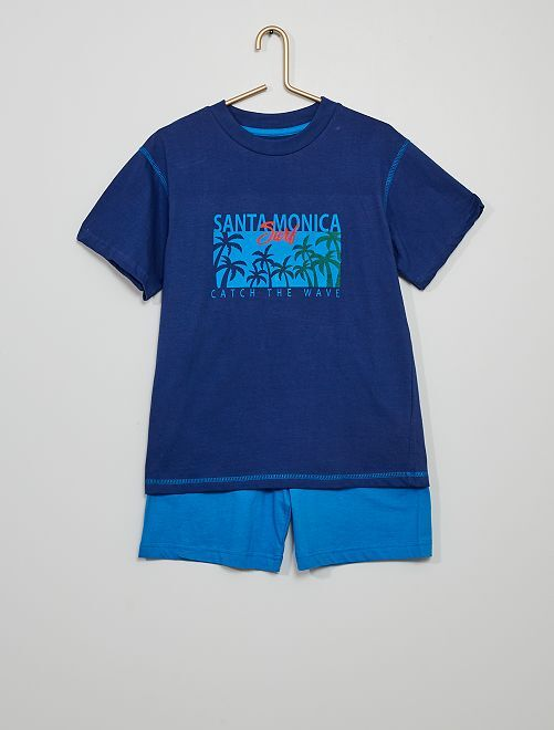 Pijama corto                     marino/azul