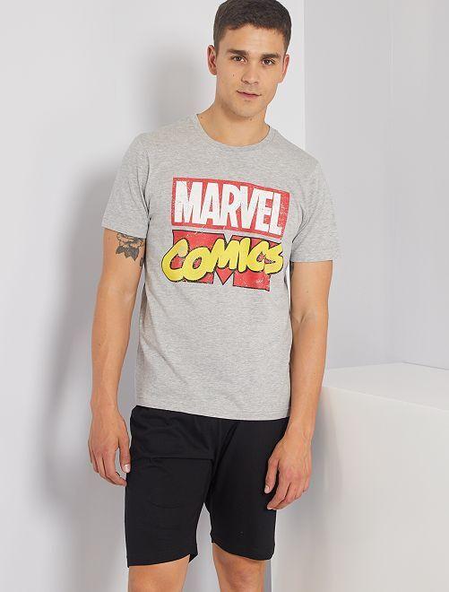 Pijama corto 'Marvel'                                         gris