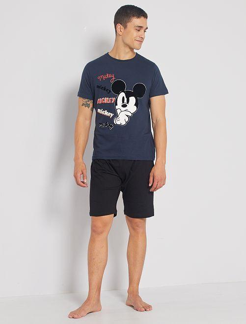 Pijama corto 'Mickey'                             marino/gris