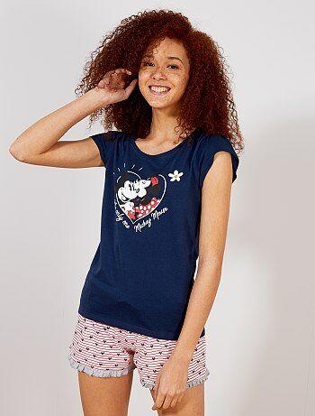 af0da9fbdbf9 Lencería de la S a la XXL - Pijama corto 'Mickey y Minnie' -