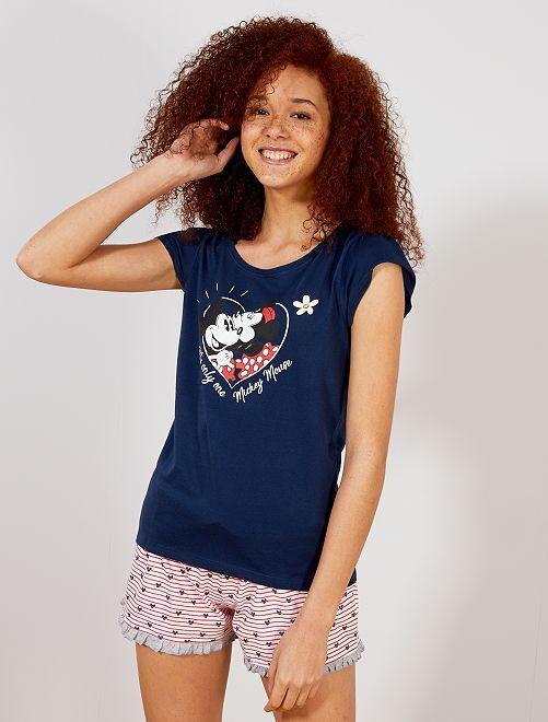 Pijama corto 'Mickey y Minnie'                                         azul Lencería de la s a la xxl