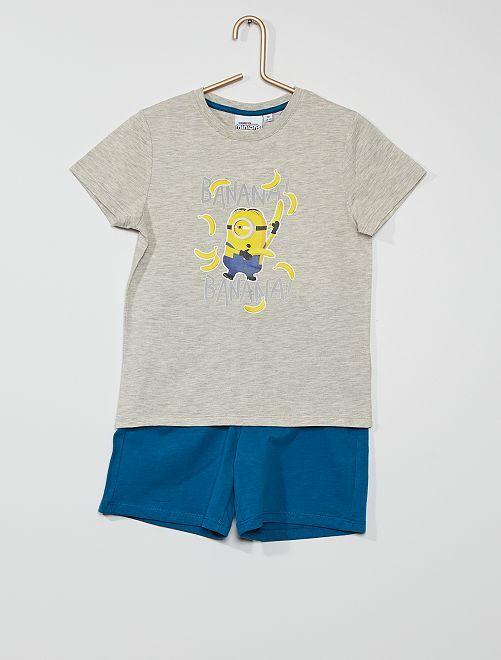 Pijama corto 'Minions'                             azul/gris