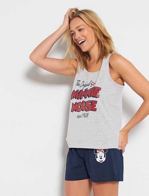 Pijama corto 'Minnie'                                         gris/marino