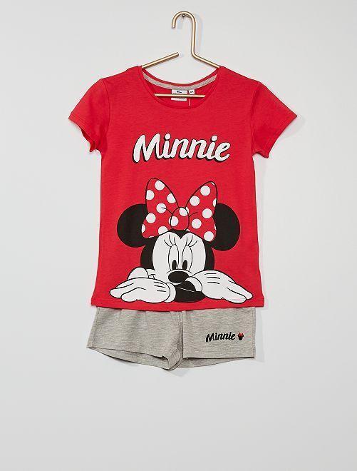 Pijama corto 'Minnie'                             rojo/gris