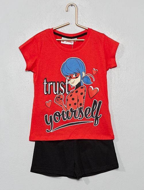 Pijama corto 'Miraculous'                                                     rojo/negro