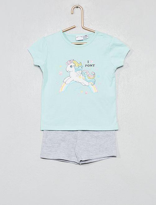Pijama corto 'My Little Pony'                             verde/gris Bebé niña