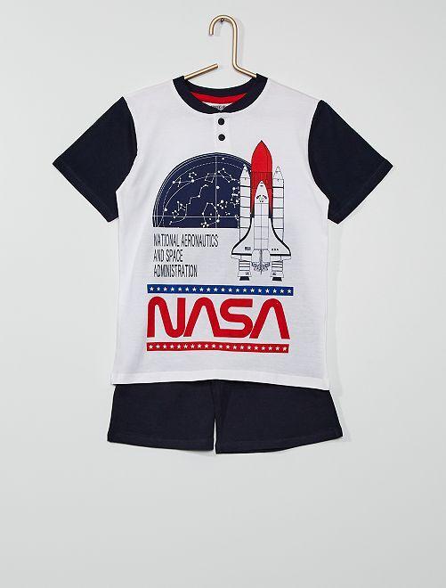 Pijama corto 'NASA'                                         BLANCO