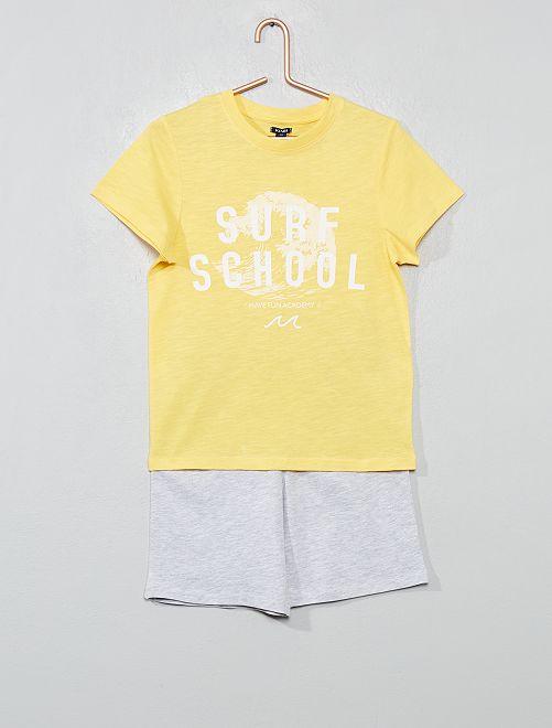 Pijama corto 'océano'                     AMARILLO