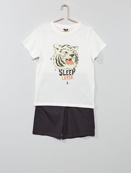 Pijama corto 'océano'                                         BLANCO Chico