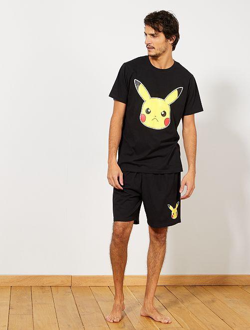 Pijama corto 'Pokémon'                             NEGRO Hombre