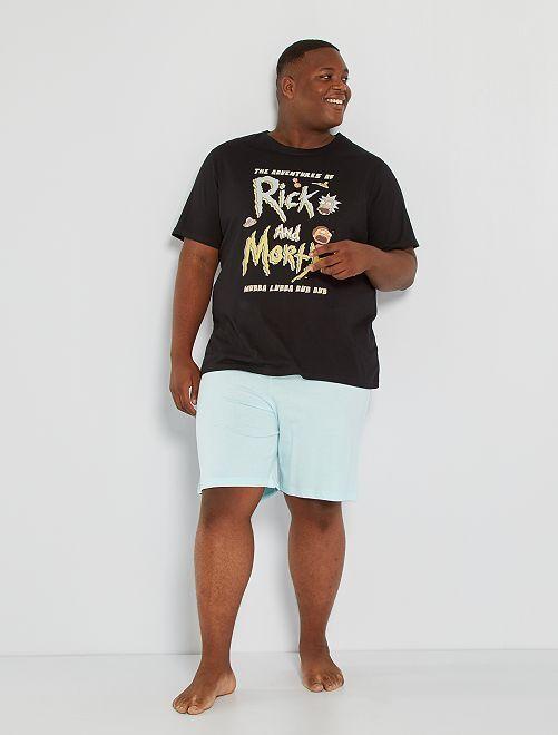 Pijama corto 'Rick y Morty'                             negro/azul