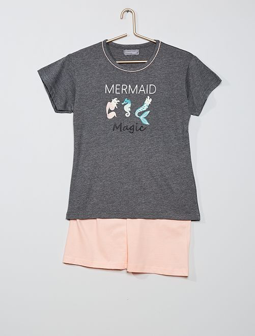 Pijama corto 'sirena'                                         antractita