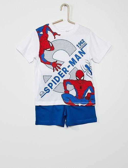 Pijama corto 'Spider-Man'                                         blanco/azul