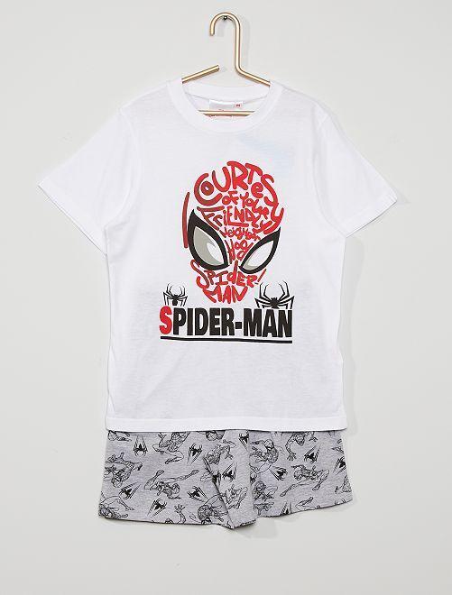 Pijama corto 'Spider-Man' de 'Marvel'                                         blanco/gris